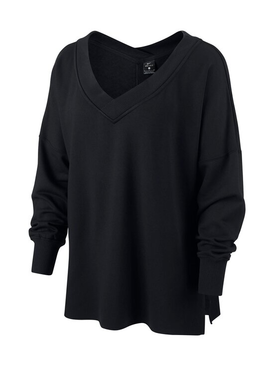 Nike - Yoga Fleece Cover-Up -paita - BLACK/DARK SMOKE GREY | Stockmann - photo 1