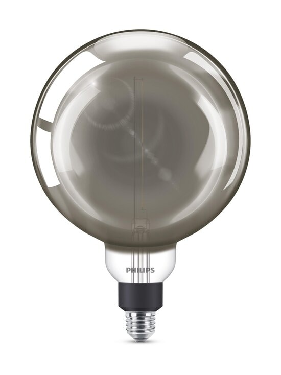 Philips - LED Giant Smoky Dimmable 6,5W E27 G200 -lamppu - GREY | Stockmann - photo 1