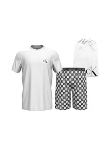 Calvin Klein Underwear - Short Sleeve Short Set -pyjama - JG2 WHITE TOP/ CK1 CHECK LOGO BOTTOM | Stockmann