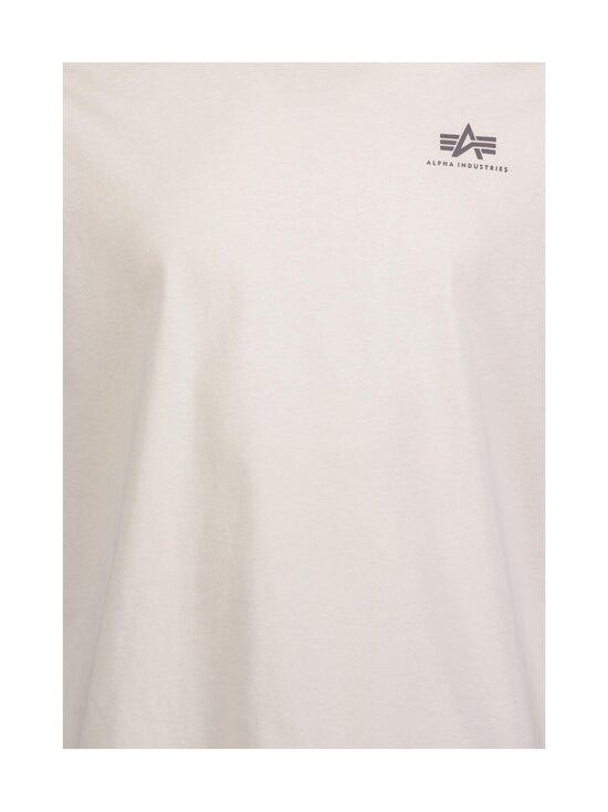 Alpha Industries - Basic T Small Logo -paita - 578 JET STREAM WHITE | Stockmann - photo 3