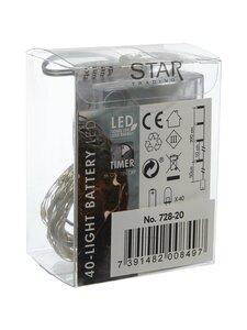 Star - Dew Drop Silver -LED-valolanka, 40 lämpimän valkoista valoa - HOPEA | Stockmann