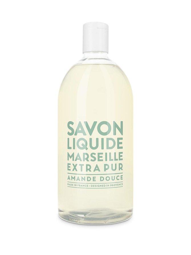 Liquid Marseille Soap Refill Sweet Almond -nestesaippua, täyttöpakkaus 1 l