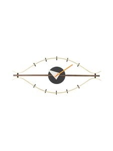Vitra - Nelson Eye Clock -seinäkello - WALNUT/BRASS | Stockmann