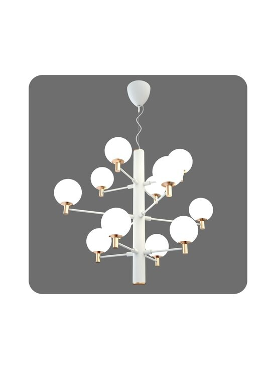 Design by Grönlund - Jubileum 12 -kattovalaisin 70 cm - WHITE / MAT BRASS / OPAL GLASS | Stockmann - photo 2