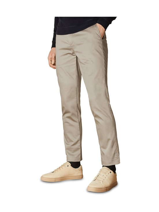 Ted Baker London - Smile Slim Fit Satin Finish Chinos -chinot - 05 STONE | Stockmann - photo 2