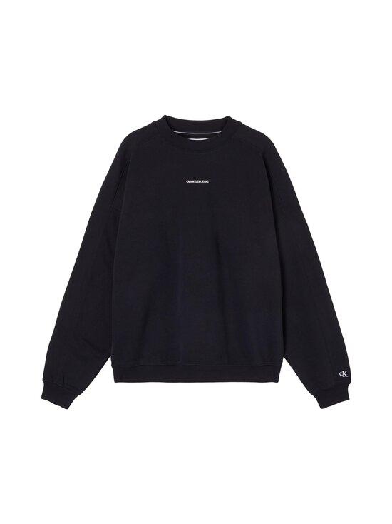 Calvin Klein Jeans - Micro Branding Crew Neck -collegepaita - BEH CK BLACK | Stockmann - photo 1