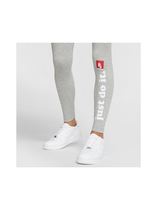 Nike - W Sportswear Club -leggingsit - 063 DK GREY HEATHER/WHITE | Stockmann - photo 5