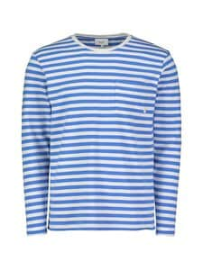 Makia - Verkstad Long Sleeve -paita - 634 BLUE-WHITE | Stockmann