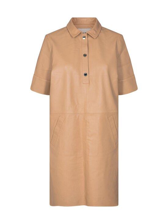 MOS MOSH - Esther Leather Dress -nahkamekko - NEW SAND   Stockmann - photo 1