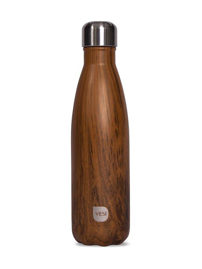 Wood- teräksinen juomapullo 500 ml