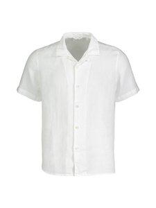 Knowledge Cotton Apparel - Wave SS linen shirt Vegan -pellavapaita - 1010 BRIGHT WHITE | Stockmann