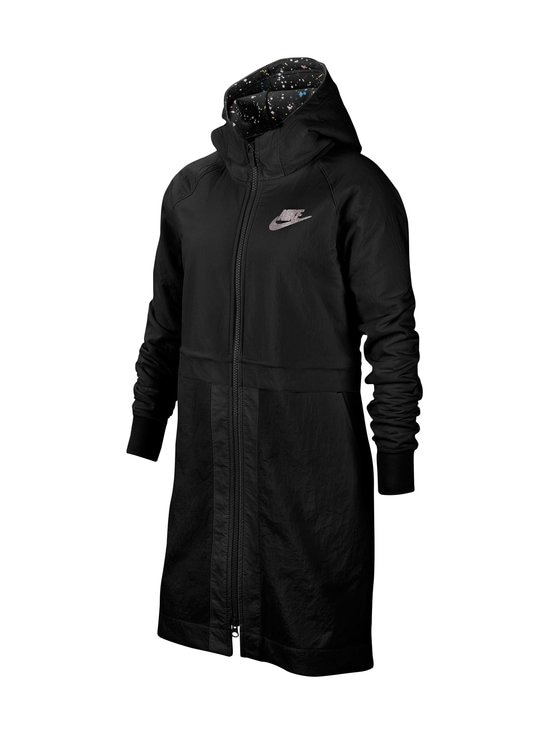 Nike - Sportswear Older Kids' Fleece Parka -takki - BLACK/BLACK/ATMOSPHERE GREY   Stockmann - photo 1