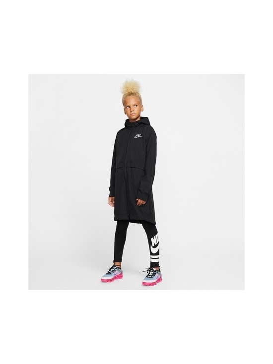 Nike - Sportswear Older Kids' Fleece Parka -takki - BLACK/BLACK/ATMOSPHERE GREY   Stockmann - photo 6