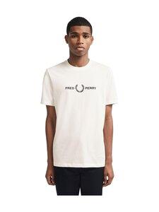 Fred Perry - Graphic T-Shirt -paita - 129 SNOW WHITE | Stockmann