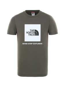 The North Face - Y Box SS Tee -paita - KR51 NEW TAUPE GREEN/TNF WHITE | Stockmann