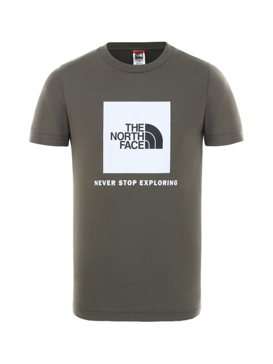 The North Face - Y Box SS Tee -paita - KR51 NEW TAUPE GREEN/TNF WHITE | Stockmann - photo 1