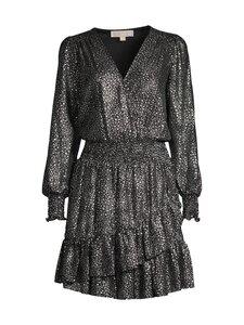 Michael Michael Kors - Metallic Star Georgette Ruffled Wrap Dress -mekko - 099 BLK/SILVER | Stockmann