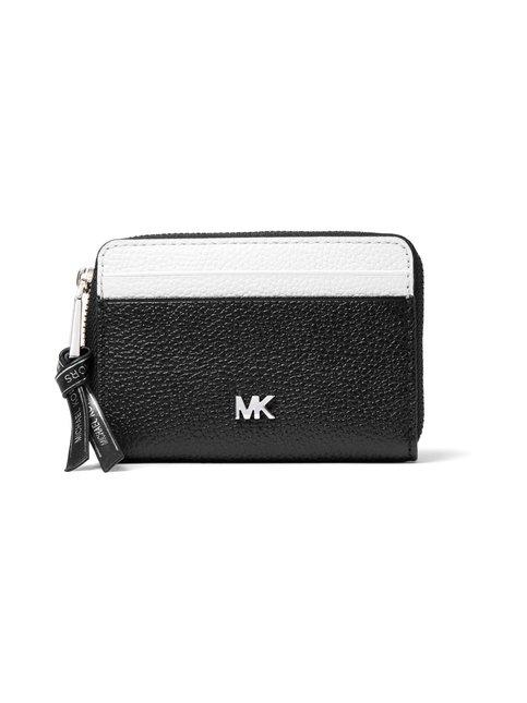 Small Two-Tone Pebbled Leather Wallet -nahkalompakko