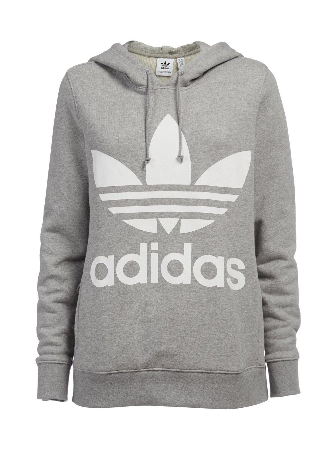 Medium Grey Heather (harmaa) Adidas Originals Trefoil-huppari CY6665 ... 4f4a44f0be