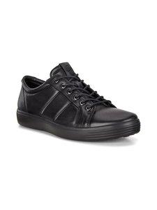 ecco - Soft 7 -nahkasneakerit - 51052-BLACK/BLACK | Stockmann