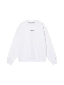 Calvin Klein Jeans - Micro Branding Crew Neck -collegepaita - YAF BRIGHT WHITE | Stockmann