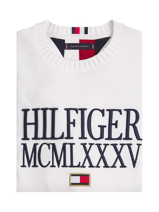 Tommy Hilfiger - Contrasted Chest Logo -puuvillaneule - YBL ECRU | Stockmann - photo 3