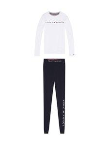 Tommy Hilfiger - LS Set Logo -pyjama - 0WV WHITE/DESERT SKY | Stockmann