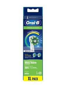 Oral-B - CrossAction-harjaspää 6 kpl - WHITE | Stockmann