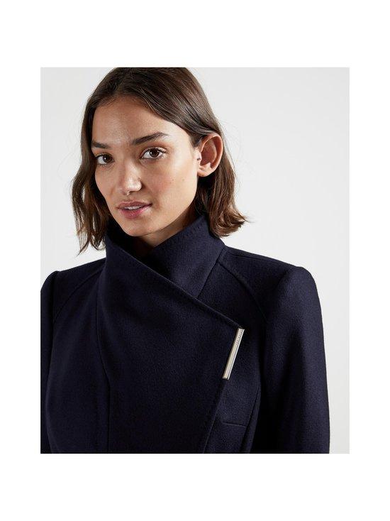 Rose Midi Wool Wrap Coat -villakangastakki
