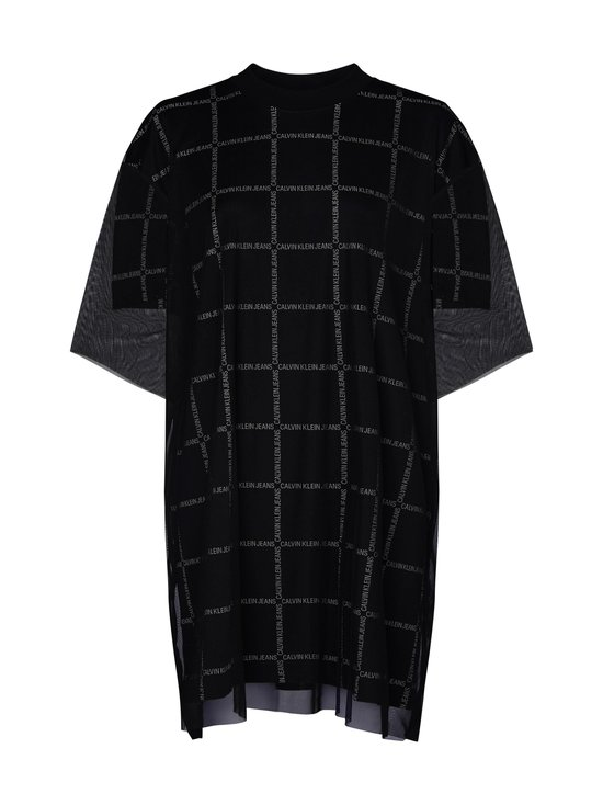 Calvin Klein Jeans - Grid All Over Logo Mesh -mekko - BAE CK BLACK | Stockmann - photo 1
