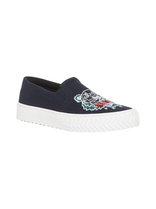 Kenzo - K-Skate Tiger Slip-On -sneakerit - 76 - CANVAS TIGER HEAD EMBROIDERY - NAVY BLUE | Stockmann - photo 2