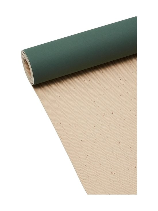 Casall - ECO Yoga Mat Grip&Bamboo -joogamatto 4 mm - 435 GREEN/NATURAL | Stockmann - photo 4