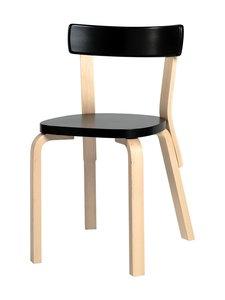 Artek - 69-tuoli, koottava - KOIVU/MUSTA | Stockmann