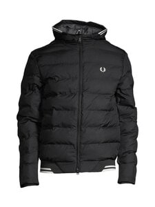 Fred Perry - Hooded Insulated Jacket -toppatakki - 102 BLACK | Stockmann