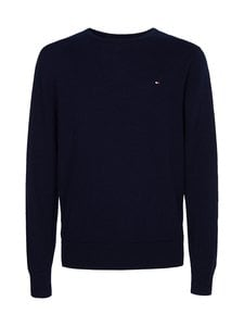 Tommy Hilfiger - Luxury Wool Cotton Crew Neck -villa-puuvillaneule - DW5 DESERT SKY | Stockmann