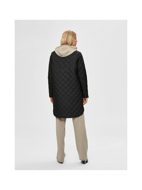 Selected - SlfFillipa Quilted Coat -takki - BLACK | Stockmann - photo 2