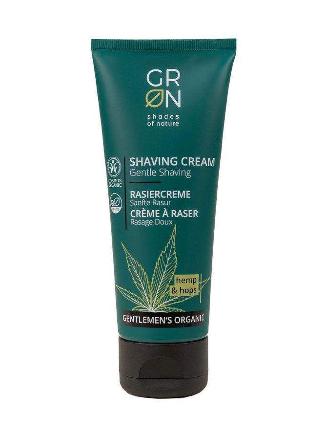 Gentlemen's Organic Shaving Cream Hemp & Hop -parranajovoide 75 ml