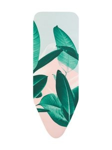 Brabantia - Tropical Leaves -silityslaudan päällinen, 124 x 45 cm (C) - TROPICAL LEAVES (VIHREÄ/VAALEANPUNAINEN/VAALEANSININEN) | Stockmann