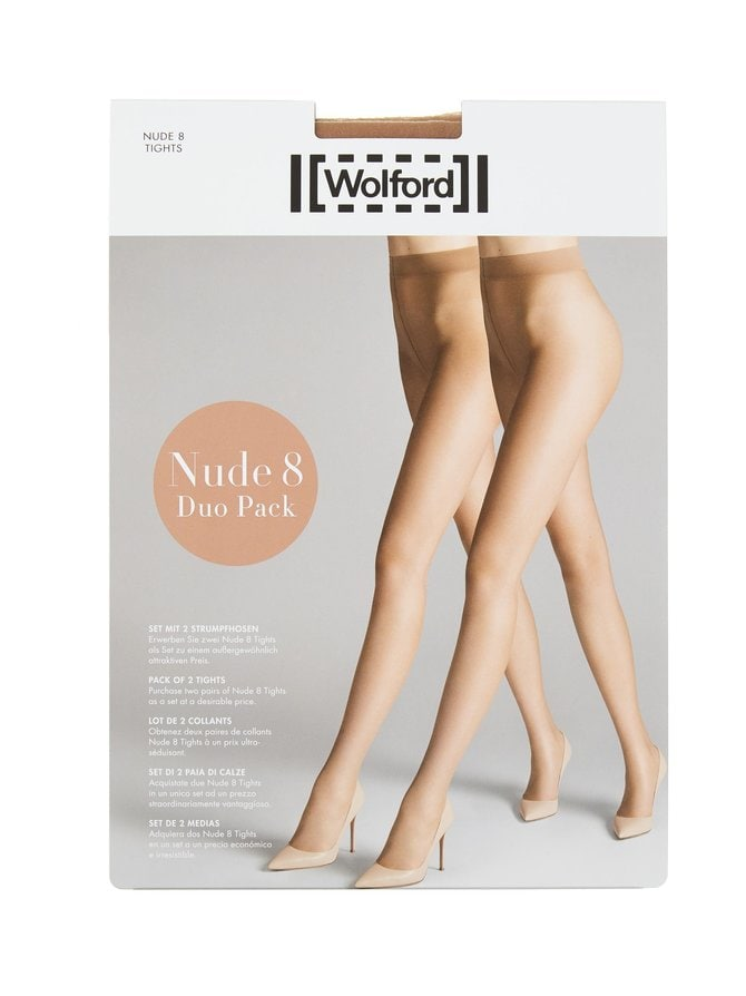 Nude 8 den -sukkahousut 2-pack