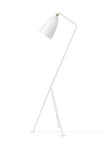 Gubi - Gräshoppa Floor Lamp -lattiavalaisin 125 cm - WHITE SEMI MATT   Stockmann