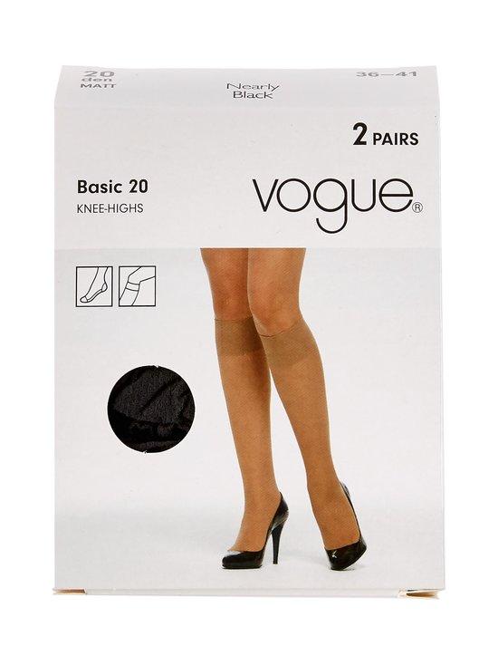 Vogue - Basic 20 den -polvisukat 2-pack - NEARLY BLACK | Stockmann - photo 1