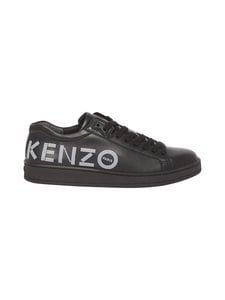 Kenzo - Logo Tennix -nahkasneakerit - 99BLACK | Stockmann