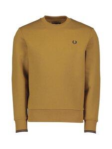 Fred Perry - Crew Neck Sweatshirt -collegepaita - 644 DARK CARAMEL | Stockmann