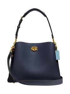 Coach - Willow Shoulder Bag In Colorblock -nahkalaukku - B4/MIDNIGHT NAVY MULTI   Stockmann