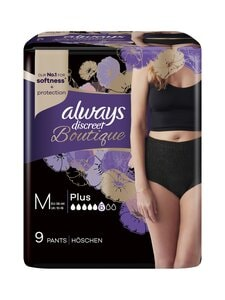 Always - Discreet Boutique Pants Black M -inkonitinenssihousut 9 kpl | Stockmann