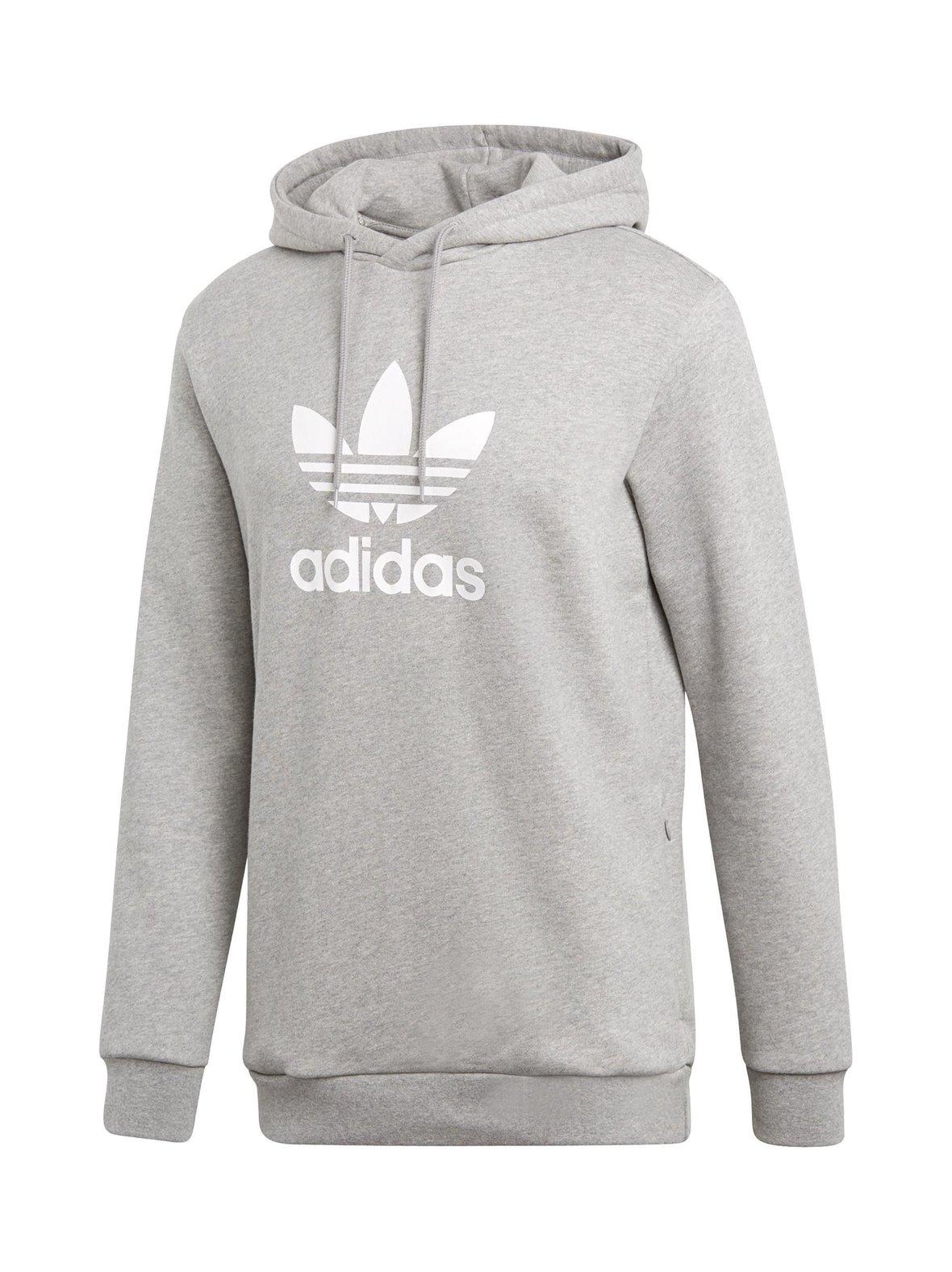 Medium Grey Heather (harmaa) Adidas Originals Trefoil-huppari CY4572 ... 9ff244cb77