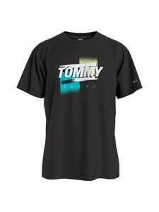 Tommy Jeans - Faded Color Graphic Tee -paita - BDS BLACK | Stockmann