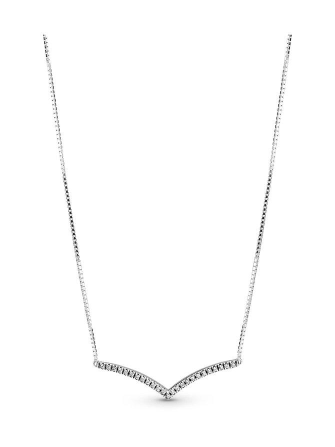 Wishbone Silver Collier -kaulakoru