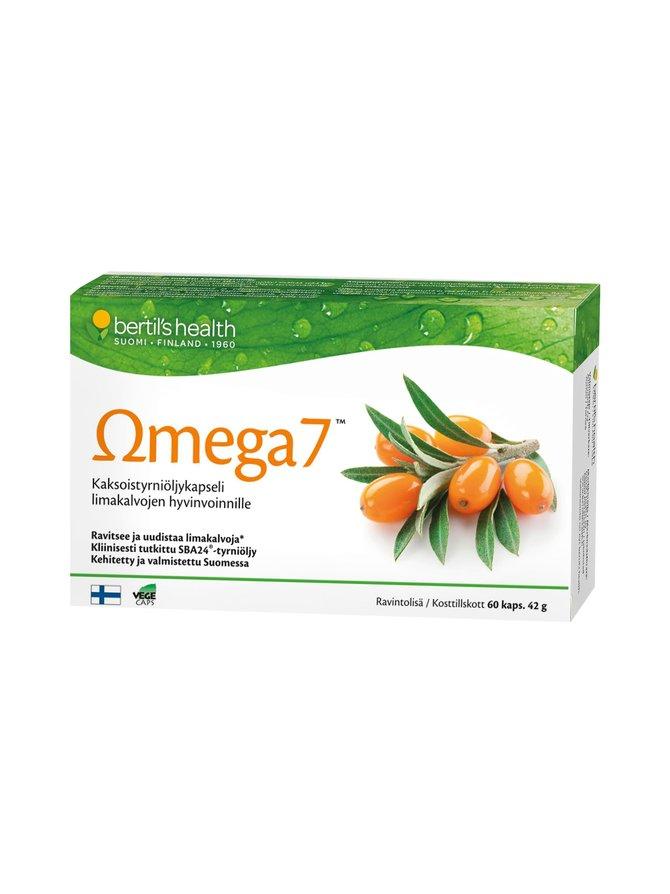 Omega7-kaksoistyrniöljykapseli 60 kaps./42 g