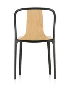 Vitra - Belleville Chair Wood -tuoli - BLACK/NATURAL OAK 10 | Stockmann
